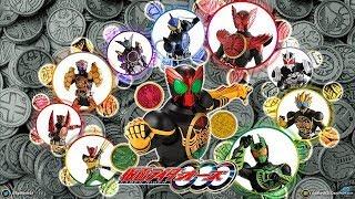 Tất cả hình dạng chính của Siêu Nhân Đồng Xu | Kamen Rider OOO - All form