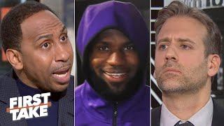 Stephen A. blasts Max Kellerman for telling LeBron to load manage when he's healthy | First Take
