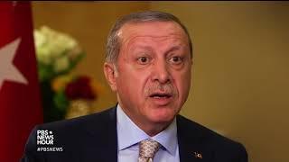 Erdogan questions why U.S. has armed Syrian Kurdish 'terrorists,' disputes claims of dictatorship