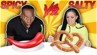 SPICY VS SALTY CHALLENGE 🌶️