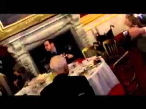 Hannah Gordon drawn at Prince Charles event by Michael Caine impersonator! - YouTube