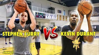 Stephen Curry vs. Kevin Durant in a 3-Point Shootout during practice