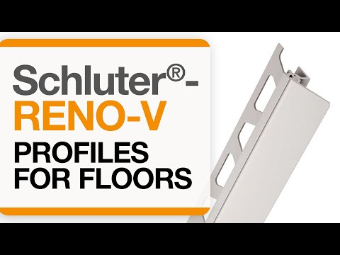 How to install a tile transition on floors: Schluter®-RENO-V