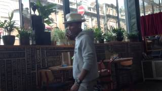 Surprise Surprise! The day Pharrell Williams crashed our lunch date...the uncut version!