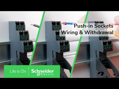 Push-in Sockets Wiring Insertion & Withdrawal | Schneider Electric Support