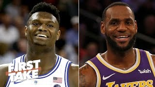 The Lakers should draft Zion Williamson so LeBron can feed him - Stephen A. | First Take