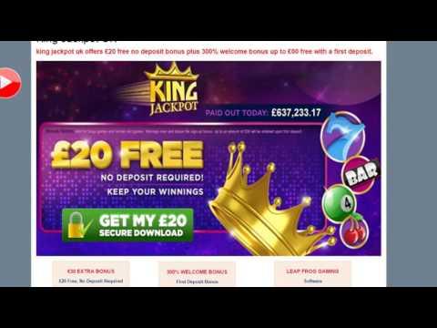 King Jackpot Bingo   £20 Free No Deposit Bingo site   Free Bingo game