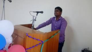 Excellence farewell speech in hindi at deparment of botany in banaras hindu university by R. gangwar
