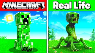 MINECRAFT MOBS IN REAL LIFE! (animals, items, bosses)