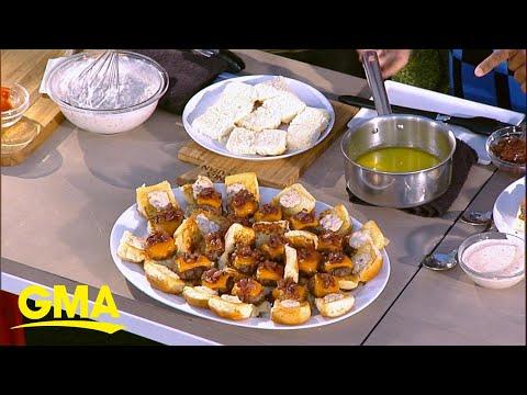 Ryan Scott demos the perfect Memorial Day sliders and hot dog recipe l GMA