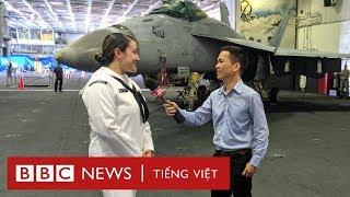 Đi thăm tàu sân bay USS Ronald Reagan cùng BBC News tiếng Việt