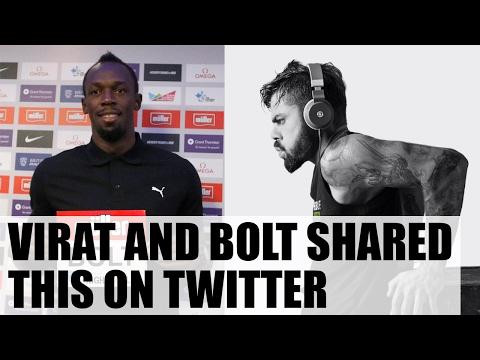 Virat Kohli overwhelmed by Usain Bolt's mesasge
