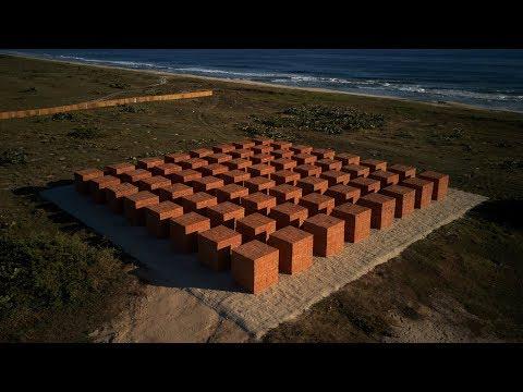 Bosco Sodi's builds brick Atlantes installation beside Tadao Ando's Casa Wabi