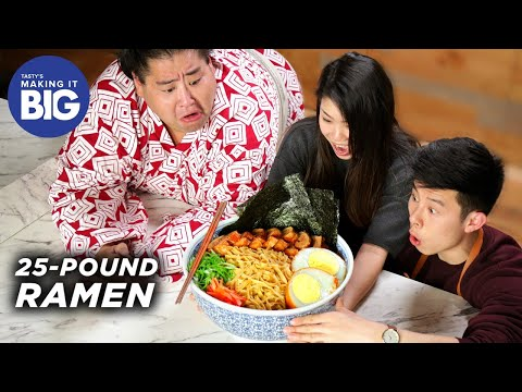 We Made A Giant 25-Pound Ramen Bowl For A Sumo Wrestler ?Tasty
