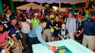 Novak Djokovic Plays Ping Pong
