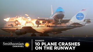 10 Intense Plane Crashes on the Runway | Smithsonian Channel