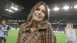 Welcome To Banc Of California Stadium, Sophia Bush!