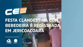 Festa clandestina com bebedeira é registrada em Jericoacoara