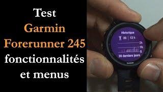Vidéo-Test : Test Garmin Forerunner 245 / 245 Music