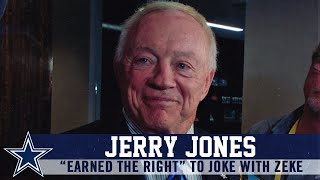 "Jerry Jones: ""I've Earned the Right to Joke With Zeke"" 