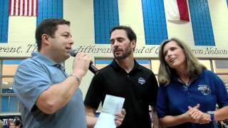 Jimmie Johnson Pep Rally at Byron Nelson HS.mov