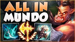 STOP PLAYING MUNDO WRONG! MEGACRIT MUNDO IS ACTUALLY LEGIT! MUNDO TOP GAMEPLAY! - League of Legends