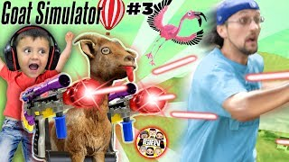 MY GOAT IS AFTER ME!!  FGTeeV Goat Simulator Pay Day w/ Gary the Shark #3