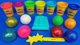 Learn Colors with Colored Balls out of Play Doh | Making 3 Ice Cream | Learn Numbers | For Children