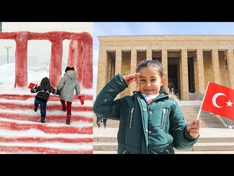 Babasıyla Kardan Anıtkabir Yapan Hira, Anıtkabir'i Ziyaret Etti