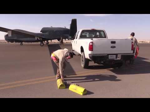 DFN: BROLL: Air Force RQ4 Global Hawk Reaches 20k Hours, UNITED ARAB EMIRATES, 02.13.2018