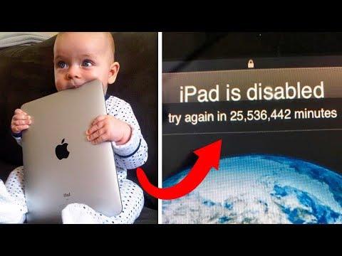 Ребенок так сильно хотел разблокировать iPad своего отца, что заблокировал его на 47 лет