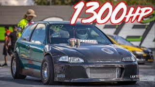 1300HP AWD Honda Breaks 7's! - Frustrate EG Civic