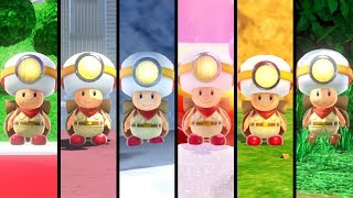 Super Mario Odyssey - All Captain Toad Locations (All Kingdoms)