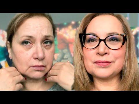 Возрастной макияж 50+ 60+ Лифтинг макияж Преображение Как выглядеть моложе Как улучшить овал лица