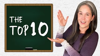 English Words – The Top 10 – Pronunciation Guide – Learn English (American English)