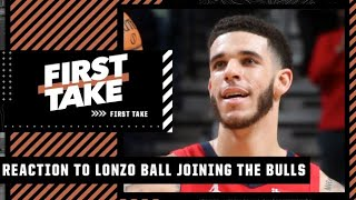 Reacting to Lonzo Ball agreeing to a 4-year/$85M deal with the Bulls via sign-and-trade   First Take