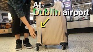공항에서 캐리어가 부서져 나왔을때 외국인 직원과 대화한 vlog(아일랜드 발음을 들어봅시다^_^)