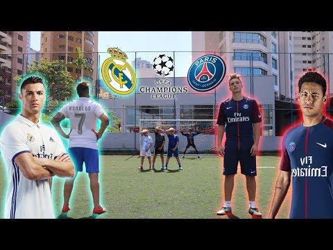 REAL MADRID vs PSG - LIGA DOS CAMPEÕES ( épico )
