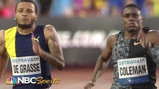 USA's Christian Coleman and Canada's Andre De Grasse Battle in Men's 200 Meters | NBC Sports