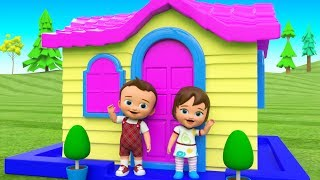 Toddlers Fun Play Videos - Little Baby Boy and Girl Learn to Make House Toy Set 3D Educational Video