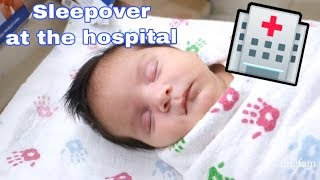 Sleepover at the hospital 🏥 #vlog