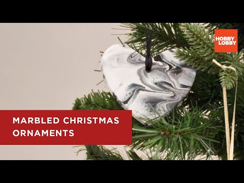 Do It Together | Hobby Lobby® Christmas | Marble Ornaments