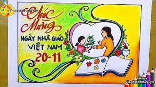 Vẽ thiệp Chúc mừng Ngày nhà giáo Việt Nam 20/11