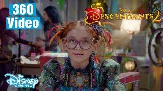 Descendants 2 | 360 BTS Dizzy's Salon ft. Mal, Evie & Dizzy 💜 | Official Disney Channel UK