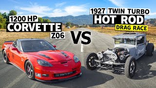 1,200hp Corvette vs. 600hp '27 Dodge. Twin Turbo LS Done Two Very Different Ways! // This vs. That