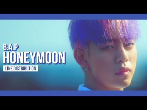 B.A.P - HONEYMOON Line Distribution (Color Coded)