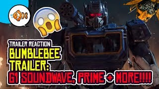 NEW BUMBLEBEE (2018) TRAILER REACTION! G1 Transformers Movie! Soundwave, Optimus Prime, More!
