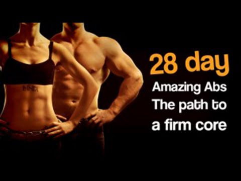 28 Day Amazing Abs course intro for fitness, firm core and weight loss