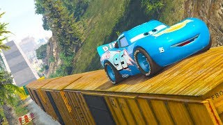 CARS DINOCO FOREST PARKOUR CHALLENGE (Cars Dinoco Lightning Mcqueen)