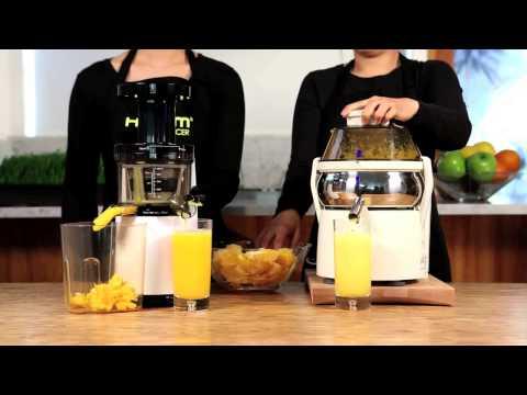 Slow Juicer Vs Smoothie : Test: estrattore di succo Hurom 500 vs centrifuga Centrika Ariete Musica Movil MusicaMoviles.com
